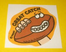 Vtg 80s TREND Scratch n Sniff FOOTBALL Scent MATTE Sticker Mint~GREAT CATCH~NFL