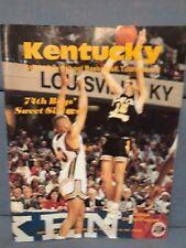 1991 Kentucky State High School Basketball Tounament Program  KHSAA