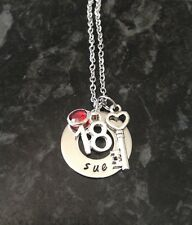 Personalised Name Necklace 16th, 18th, 21st, 30th or 40th Birthday/Anniversary.