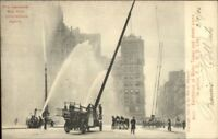 New York City Fire Fighting Insurance Adv Water Towers Exhibition c1905 PC