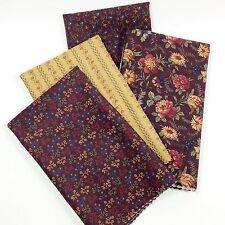 Half Yard Bundle Moda Fabric Kansas Troubles Clara's Garden Purple Tan 1/2