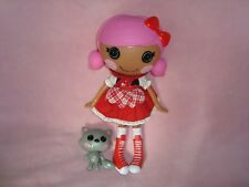 """Red Riding Hood Lalaloopsy 12"""" PVC Doll With pet Wolf"""