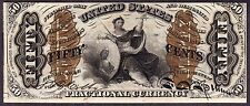 US 50c Justice Fractional Currency Note FR 1362 CU