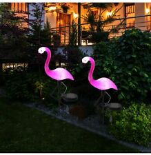 Lawn Light Flamingo Solar Stake Lantern Outdoor Decor Pathway Yard Garden Lamp