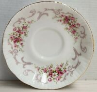 English Paragon Rose Bouquet Pattern Bone China Saucer England c1981 Only