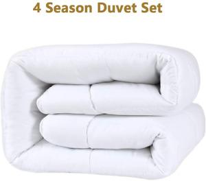 4 Season Duvets Microfiber Filling Summer Winter Duvet Single, Double, King Size