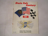 1971 INDIANA STATE FAIR CENTURY OFFICIAL RACING PROGRAM - NICE - TUB BN-9