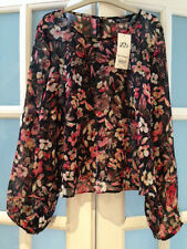 BNWT MISS SELFRIDGE FLORAL TOP SIZE 10