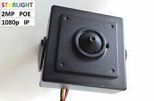 2MP 1080p IP STARLIGHT POE Spy Nanny Pinhole HD 1080p ONVIF nightvision camera