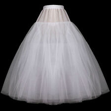 Plus Size White NO Hoop 3 Layer Petticoat Crinoline Underskirt For Wedding dress