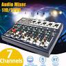 7 Kanal USB bluetooth Mixer Live Studio Audio Mischpult DJ Konsole Verstärker H