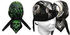 Dragon & Skull Biker Du Doo Rags Mens Head Wrap Hat Skull Cap Bandanna Capsmith