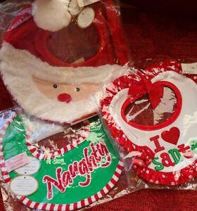 Lot of 3 - Bearington Baby Collection - Holiday / Christmas Bibs - New