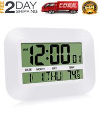 HeQiao Silent Desk Clocks, Digital Wall Clock Battery Operated Simple- NEW