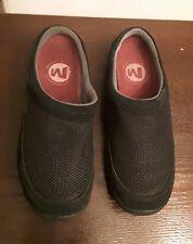 Women's Merrell Size 7.5 Black Mesh/Suede Trim- Slip On Slides/  Clogs/ Mules