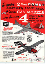 1958 PAPER AD Comet Model Airplanes USAF Starfighter Piper Tri-Pacer Hobbycraft