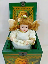 Vtg '87 Enesco Wood Musical Jack-In-Box Christmas Angel Ltd Edition 389/2500