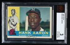 1960 Topps Hank Aaron #300 BVG 3 HOF