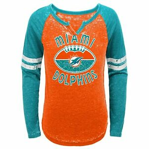 Outerstuff NFL Youth Girls (7-16) Miami Dolphins Long Sleeve T-Shirt