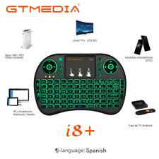 I8 teclado español Inalámbrico con retroiluminación de 3 colores Fly Air Mouse