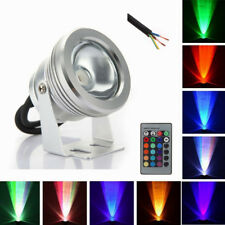 Outdoor 10W RGB Underwater LED light Pool Pond Waterproof Spotlight 12V