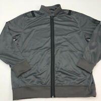 Sean John Track Jacket Mens 2XL XXL Gray Full Zip Band Collar Insulated Pockets