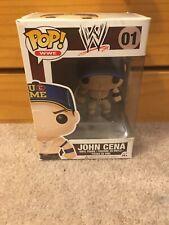 Funko Pop John Cena 01 Wwe Vinyl Figure Blue Hat U Cant See Me With Protector