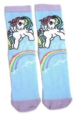 LADIES MY LITTLE PONY SKY BLUE RAINBOW SOCKS UK 4-8 EUR 37-42 USA 6-10