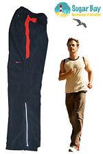 NIKE NEUF léger réfléchissant DriFit jogging bas pantalon noir rouge moyen