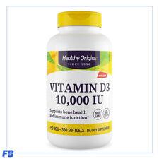Vitamin D3 360 Softgels 10000 IU by Healthy Origins
