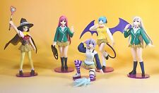 Rare! Rosario+Vampire Gashapon Figure 5 Types Full Set (Kurumu w/Wings) +Sleeve