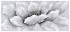 White Flower Hand Painted Canvas 110x50cm