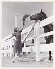 JANE POWELL Original CANDID Horse Ranch Vintage 1946 Eric Carpenter MGM Photo
