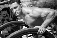 """017 Greg Plitt - American Fitness Model Actor 21""""x14"""" Poster"""