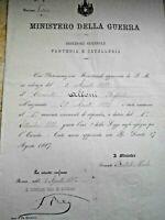 MINISTERO DELLA GUERRA DIPLOMA DECRETO AUTOGRAFO MINISTRO BERTOLA' VIALE 1800