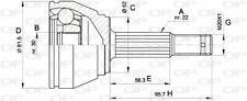 TêTE DE CARDAN POUR OPEL ASTRA F BREAK 1.6 I 16V,1.6 I 16V