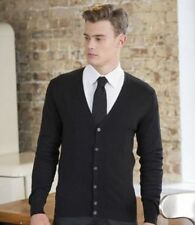 Men's Thin Knit No Pattern Button-Front Jumpers & Cardigans
