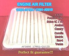 AF5650 Engine Air Filter For TOYOTA CAMRY RAV4 SCION TC AVALON VENZA US Seller