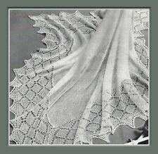 "Baby Heirloom Shawl Knitting Pattern 2ply 50 x 50"" 993"
