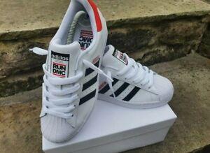 Adidas Superstar J x Run DMC - 50th Anniversary - UK 4 BNWT FY4054 White Black