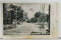 Walnutport Pa Main Street RR Crossing Trolley udb Early Northhampton Postcard M9