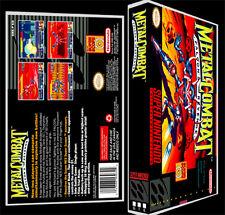 Metal Combat - SNES Reproduction Art Case/Box No Game.