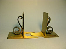 VINTAGE BRASS BOOKENDS ADVERTISING ARISTOLOY STEELS MADE IN SWITZERLAND