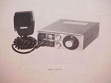 1977 RAY JEFFERSON CB RADIO SERVICE SHOP MANUAL MODEL CB-905