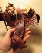 1800's Fancy Miniature Salesman Sample Saddle with Cinch Sword & Scabbard