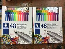 lot of 2 nib Staedtler Triplus Fineliner 0.3mm 48 Colors Porous Point Pens