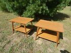 Vintage Mid-Century Modern Mahogany End Tables by Imperial Grand Rapids, Mich