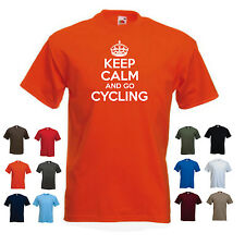 'Keep Calm and go Cycling' Funny Mountain Bike Racer Bicycle t-shirt Tee