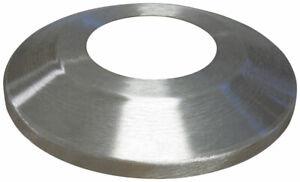 Flagpole Base Flash Collar Spun Aluminum Silver Satin Multiple Sizes USA Made