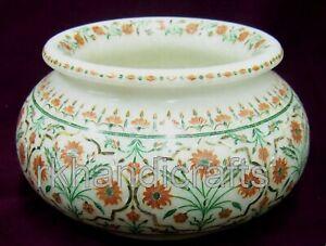 Marmor Blumentopf für Garten Handgefertigt Elegant Dekorativ Vase Für Heim